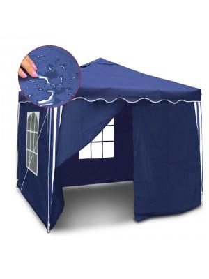 Pavilion Gradina/Cort Racing cu structura harmonica albastra cu laterale impermeabil (127142) - Accesorii universale exterior
